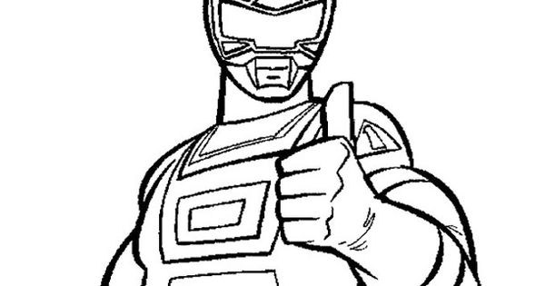 Power Rangers Red Turbo Coloring Page For Kids Kids