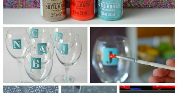 DIY Monogrammed Glasses.