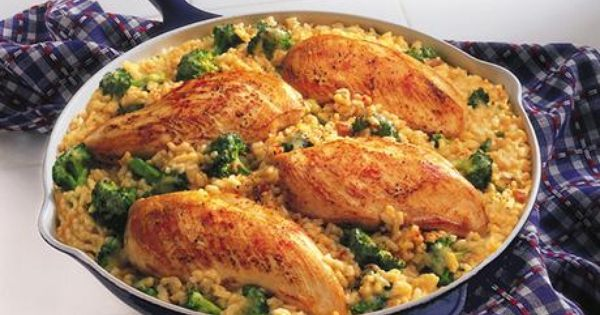 15 Minute Chicken and Rice Dinner -This easy skillet supper features chicken,