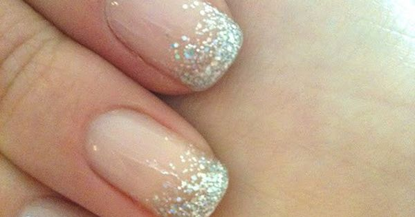 Wedding Nails: French Manicure Sparkle!