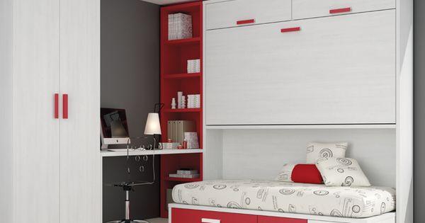 Kids touch 72 abatibles juvenil camas abatibles - Habitacion juvenil cama abatible ...