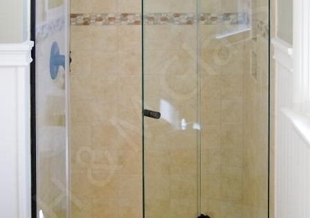Bi Fold Frameless Shower Door Add Stationary Panel Or