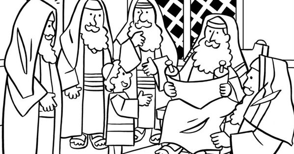 Jesus in Temple at 12  Finding in the Temple Coloring Pages  For