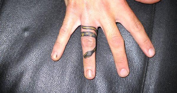 Something for my sweetie snake ring by for Snake finger tattoo