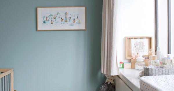 Beau bleu pour la chambre inspiration chambre adulte for Inspiration chambre adulte