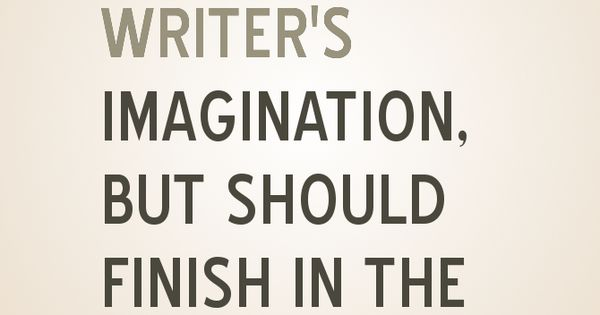 The writers imagination