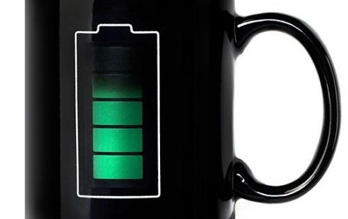 Coffee Maker That Uses Hand Print Recognition : Art Lebedev s Battery Mug tells you how hot your coffee is. #battery #unique #ideasforlife ...