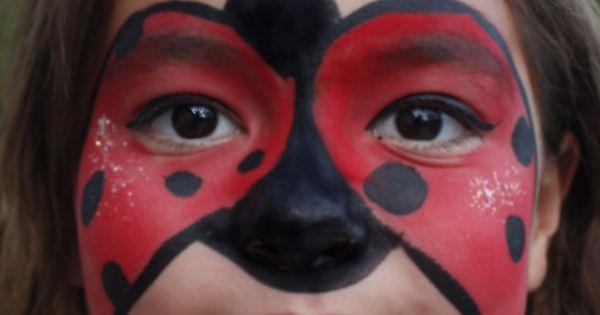 ladybug face paint kinder schminken pinterest. Black Bedroom Furniture Sets. Home Design Ideas