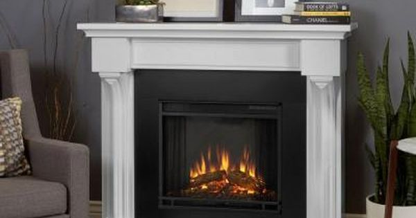Real Flame Verona 48 In Electric Fireplace In White 5420e W The
