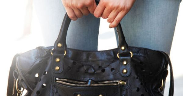 Balenciaga Bag and Vintage Jeans- NYC Street Style Accessories - Elle