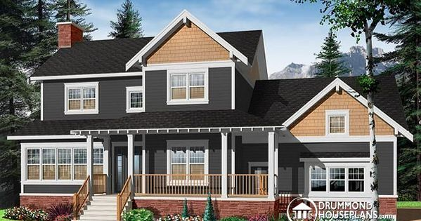 W2853a v1 craftsman house plan 3 to 4 bedrooms home for Craftsman house plans with side entry garage