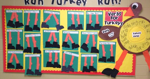 Run Turkey Run! Bulletin Board idea for Thanksgiving