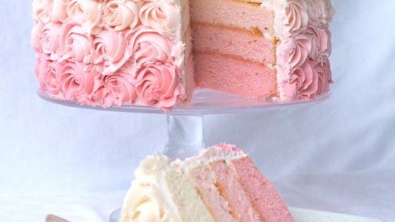 Rose Cake. Made this with the blogger's recipe for white chocolate buttercream