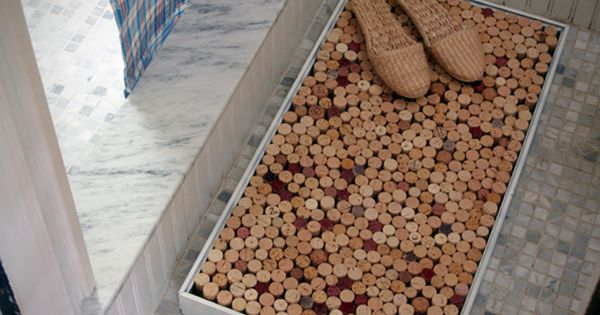 DIY - How to Make a Wine-Cork Bath Mat Upcycle your wine