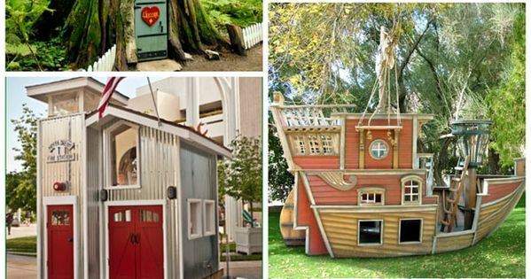 25 awesome ideas for playhouses and tree houses!