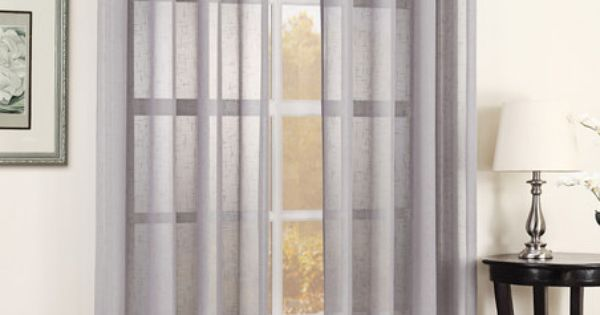 Silver julie texture sheer grommet curtain panel modern for Sheer galaxy fabric