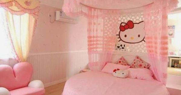 Muebles y decoraci n de interiores dormitorios de ni as for Cuarto para nina hello kitty