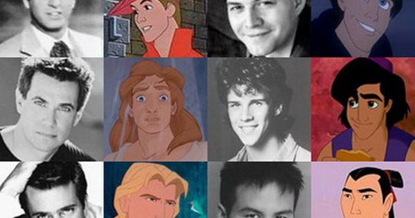 The voice actors behind the Disney Men