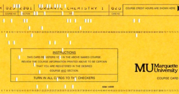 A Blast From The Past A Registration Card From Mu Circa 1987 The