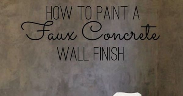 Diy Home Decor How To Paint A Faux Concrete Wall Finish