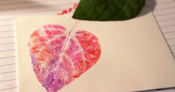 leaf print with markers - this is AWESOME! I've tried it out