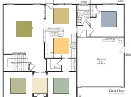paint color for an open floor plan home is where the heart is pinterest open floor paint. Black Bedroom Furniture Sets. Home Design Ideas