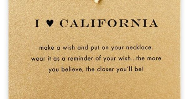 dogeared california necklace. perfect for this california girl :)
