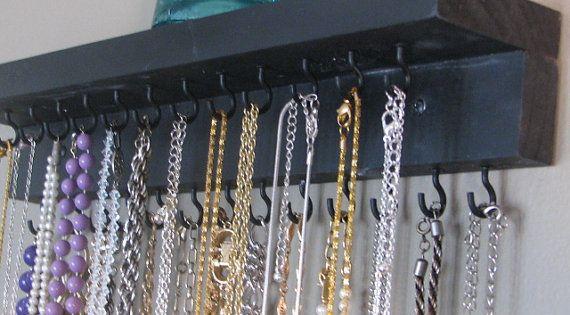 DIY necklace organizer