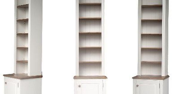 100 Solid Wood Bookcase 8ft Tall White Painted Waxed Alcove Adjustable Display Shelving Unit Bookshelves Bookcase Wood Shelves Living Room Wood Bookcase