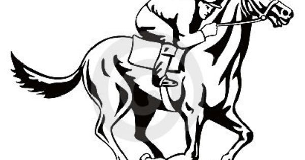 Thoroughbred Race Horse Template Horse And Jockey On A Winning