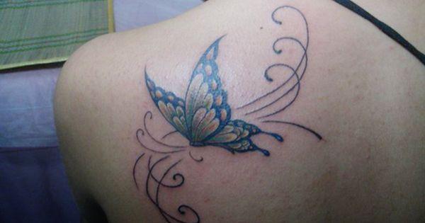 Free Art Butterfly Fairy Tattoo Designs Girls Butterfly Tattoo On Shoulder Butterfly Tattoos For Women Butterfly Back Tattoo
