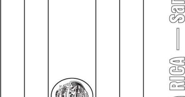 costa rica flag coloring page - costa rica flag coloring page central america studies