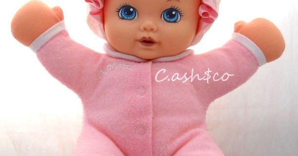 Playskool My Very Soft Baby Doll Plush Vintage 1990 Pink