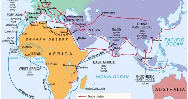 Portuguese Exploration And Trade Routes Portugals Exploration - Portugal india map
