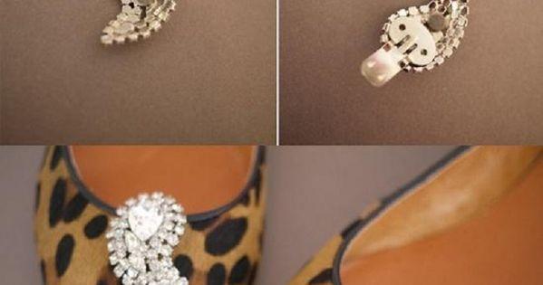 DIY: Shoe Clips Tutorial - such a cute idea! Emily? Interested? Haha