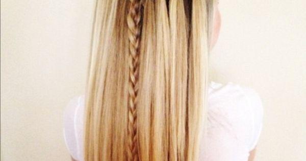 hair styles for long hair. Waterfall braid