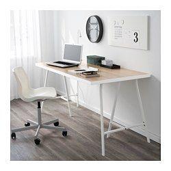 LINNMON ADILS Tisch weiß Eicheneff wlasschwarz IKEA