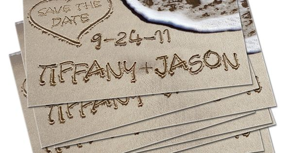 beach wedding save the date idea