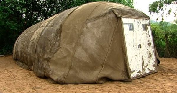 Concrete Tent Really Neat In 2020 Tent Concrete Cloth Concrete Building