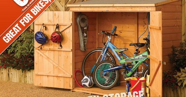 6x3ft 6 X 3 6x3 Ft Shiplap T Small Bike Shed Wooden Tool