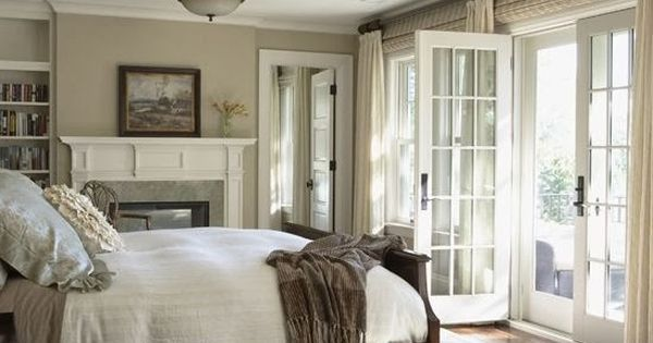 Great bedroom perfect size some books french doors for The perfect master bedroom