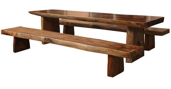 Extra Long DINING TABLE Two Benches Set SoLiD Teak