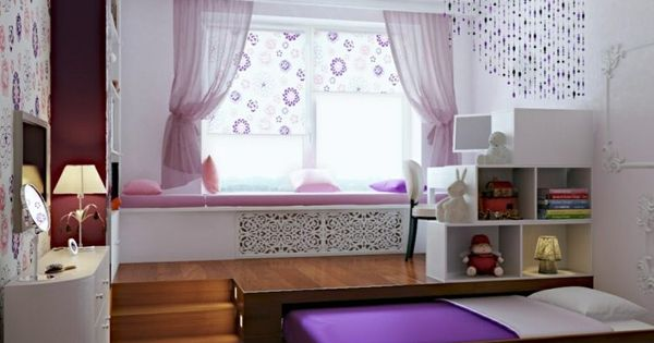 ein kinderzimmer mit podest das ein rollbett versteckt wohnideen pinterest podest. Black Bedroom Furniture Sets. Home Design Ideas