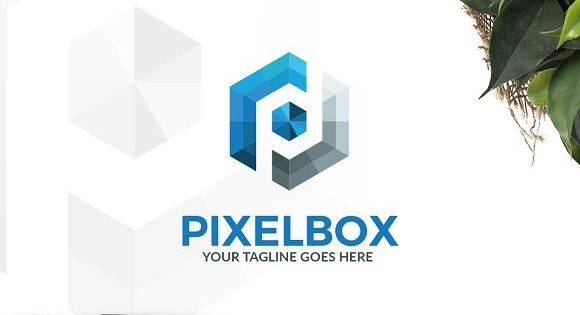 Pixel Box Logo – suitable for internet, technology and digital related business and product