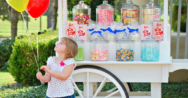 Adorable sweets cart