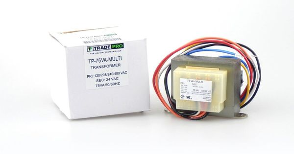 Tradepro Tp 75va Multi 120 208 240 480 24v 75va Transformer Diy Parts Transformers Multi Compact Design