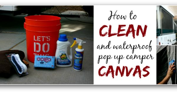 how to clean pop up camper windows