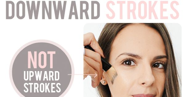 Quick Foundation Tip: Use Downwards strokes when applying foundation!