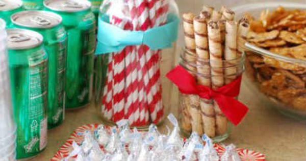 Fun & Easy DIY Holiday party Decorations Holiday party mason jars