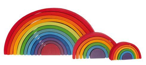 Grosser Regenbogen, 12 teilig | Grimms Spiel und Holz Design
